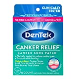 DenTek Canker Relief Canker Sore Patch Relieves Canker Pain, 6 Count (Pack of 1)
