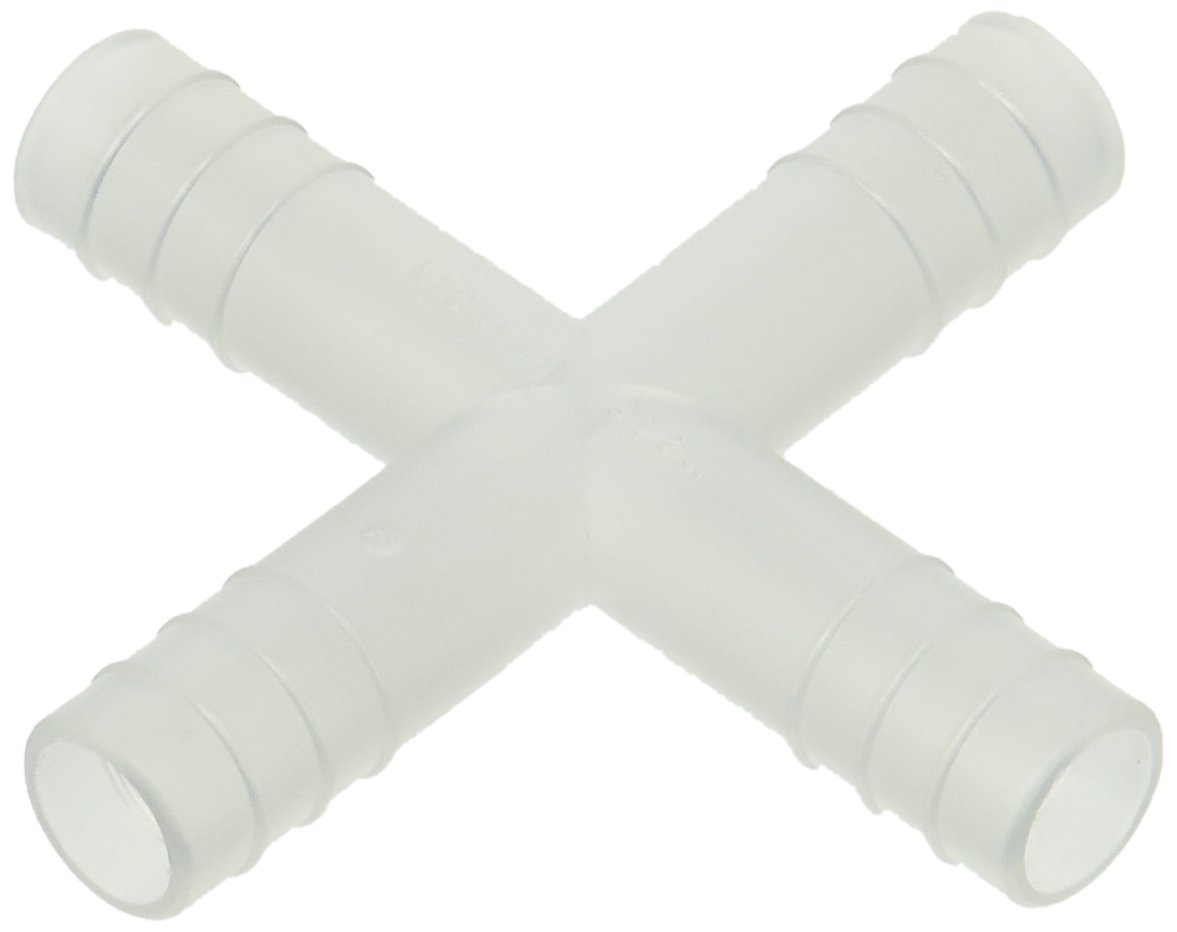 Direct store Dynalon Kartell 222975 Polypropylene 4-Way Price reduction for Tubing Connector