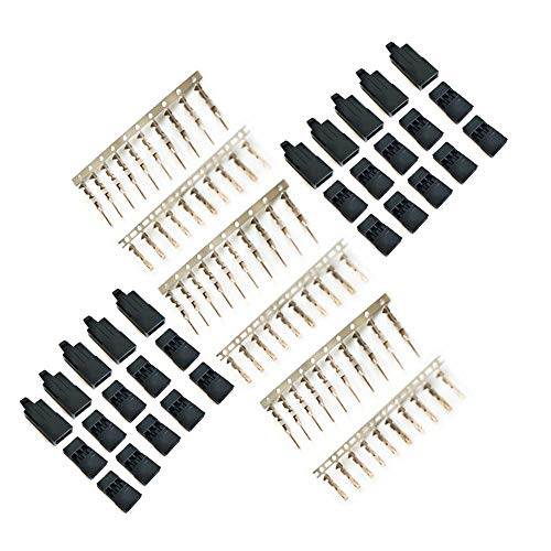 HONG YI-HAT 10 sets DIY 3 Pin Servo Extension Plug Female en Male Connector Clips for JR Futaba Type RC Airplane multirotor Quadcopter Drone vervangingsonderdelen (Color : For Futaba)