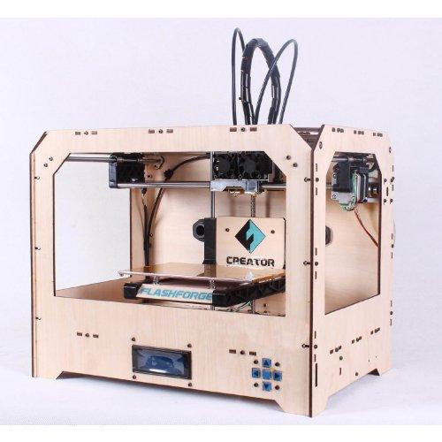 Flashforge Stampante 3D, Facile Da Montare, Doppio Estrusore Con 2 Bobine Di Filamenti