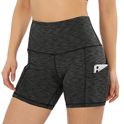 ODODOS Women's 5' High Waist Bike Shorts with Pockets Workout Sports Athletic...