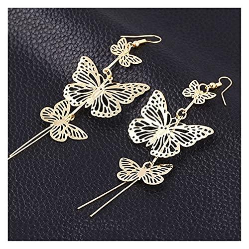 aretes E607 Jewelry Hut Moda Nowy Stop Cynkowy Gorący Sprzedający Rock Przesadzone Hollow Butterfly Kolczyki Dla Kobiet Darmowa Wysyłka Exquisito, hermoso y fácil de usar.