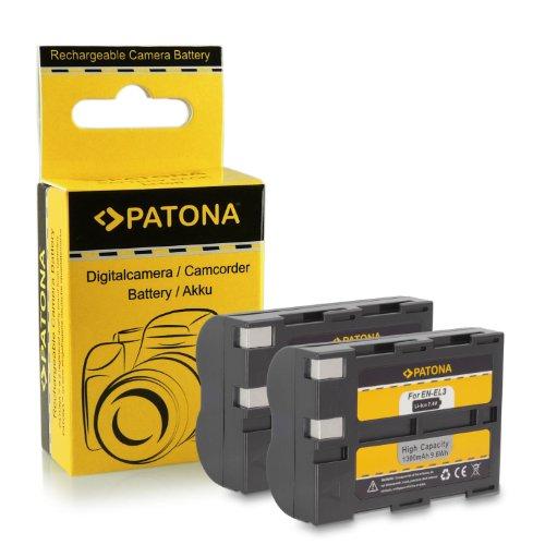 Premium Qualität - 2x Akku wie EN-EL3 / ENEL3a mit Infochip · 100% kompatibel mit Nikon D50   D70   D70s   D100
