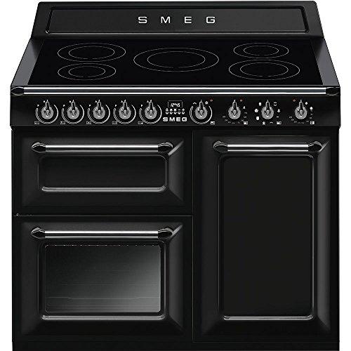 Smeg TR103IBL Range cooker Con placa de inducción A Negro - Cocina (Range cooker, Negro, Botones, Giratorio, Frente, Con placa de inducción, Left front)