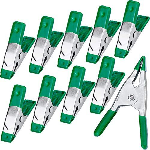 Morsetti a Molla per impieghi Gravosi da 5 cm, in acciaio con Maniglie e Punte in Gomma Protette, Confezione da 10