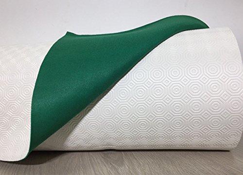 BIANCHERIAWEB Mollettone Copritavolo Gommato Antiscivolo Protezione Tavolo Colore Verde 140x140 Verde