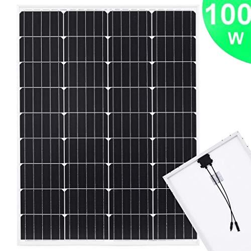 Tidyard Solarmodul Solarpanel Mit 50 cm Kabel und 4MC Stecker Monokristallin Aluminium und Sicherheitsglas,Solarzelle Solar Solarladeregler monokristallines,Alurahmen+Sicherheitsglas
