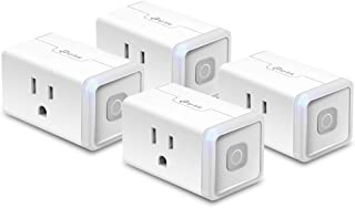 Kasa Smart WiFi Plug Lite by TP-Link (4-Pack) 12 Amp, Reliable Wifi Connection, No Hub Required, Works with Alexa Echo & Google Assistant (HS103P4) - White