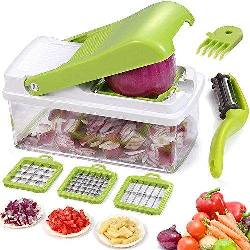 Mandolina Cortador de verduras Cortadores para fruta Taglia Verdure Smart Chopper vegetale, Dicer di Affettatrice di verdure di frutta
