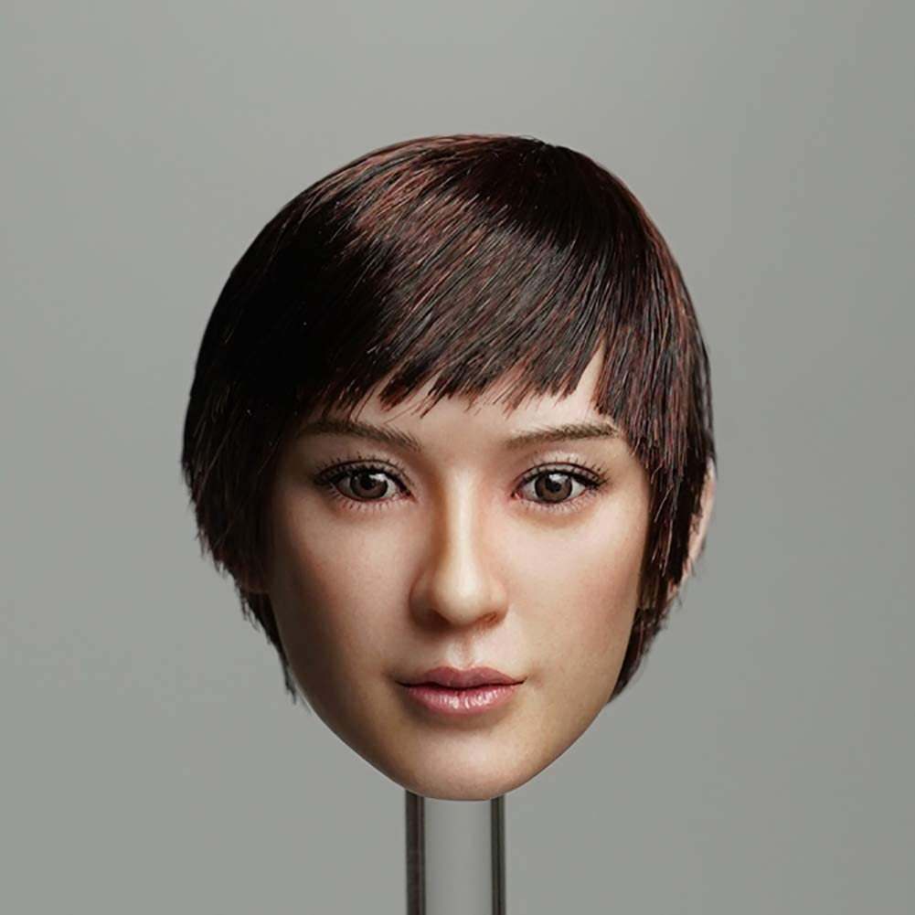 HUAXUE 1 6 Scale Head Scul Asian Long-haired Beauty Sculpt 2021 Excellence model