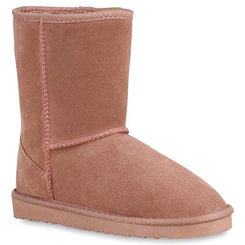 Damen Stiefeletten Leder Schlupfstiefel Boots Kostüm skostüm Indianer Fransen Squaw Pocahontas Schuhe 57882 Pink Total 39 Flandell