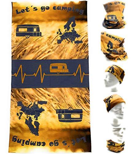 Generisch Camping Halstuch Outdoor Multifunktionstuch Caravan Wohnwagen Bandana Wohnmobil Schlauchschal Campingurlaub Loop Schlauchtuch Urlaub Zelten Camping Zubehör Camper Mundschutz