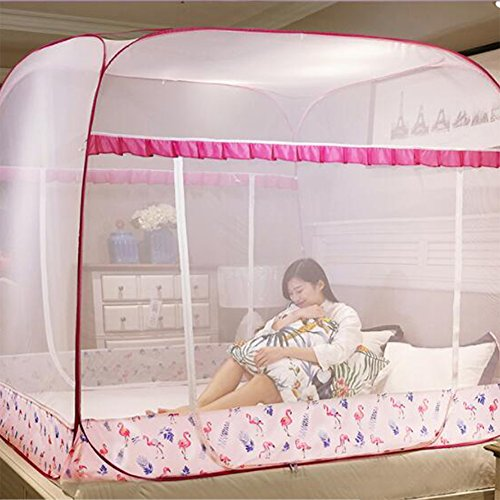 Pliage tente de mosquito net château, Ciel de lit double zip face de maison pour les enfants-C Twinch2