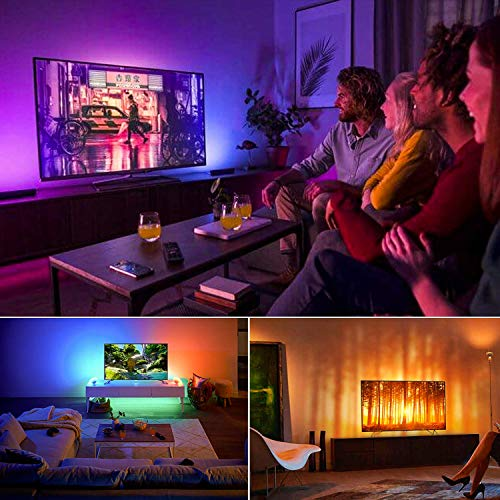 BASON USB LED TV Bias Lighting for 60 to 70 Inches HDTV LED Strip for Back of Tv Lighting Home Movie Theater Decor