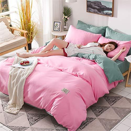 KLLT Nordic omkeerbare dekbedovertrek, 1 persoon, zacht, 100% katoen, beddengoed voor slaapkamer, tweepersoonsbed met overtrek 180 x 220 cm, slaapzak, eenpersoonsbed, dekbed