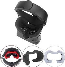 Esimen Silicone Mask Pad & Face Cover for Oculus Rift S Standard Facial Pad, Reusable Sweatproof Lightproof (Black)