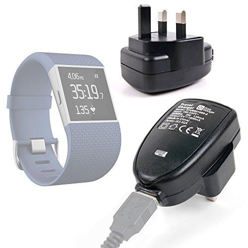 Cargador de 3pines (toma de Reino Unido) para Fitbit Blaze, Flex, One, Zip, Charge, Charge HR y Surge