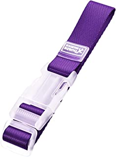 uxcell Add a Bag Luggage Strap, Adjustable Suitcase Connect Belt with Buckle, Nylon Travel Packing Accessory 320x25mm, Purple