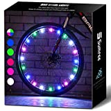Sumree Bike Lights with Batteries Included, LED Bike Wheel Lights Provide All-Round Lighting More Fashionable and Safer.Best Gifts for Boys and Girls Even for Men and Women (Rainbow)