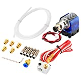 J-Head Hotend Full Kit with 5pcs Extruder Brass Print Head + 5pcs Stainless Steel Nozzle Throat for E3 D V6 Makerbot RepRap 3D Printer
