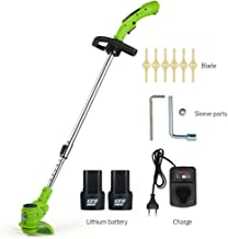 LQYGM Electric Lawn Mower Irrigation Lawn Mower Rechargeable Lithium Battery Lawn Mower Portable Garden Power Tools