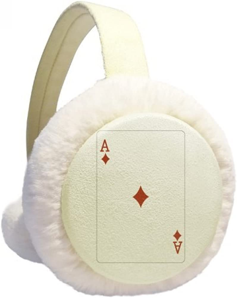 Diamond A Playing Cards Ranking TOP20 Pattern Winter Ear Our shop OFFers the best service Fur Warmer Cable Knit