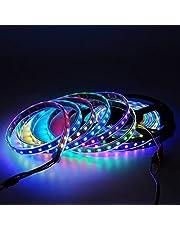 5V 2812 WS2812 LED-ljus separat separat adress 2/3/4 / 5m Smart RGB LED Pixel Belt Svart/Vit PCB Vattentät IP65 HVTKL (Color : Black PCB, Size : 5m)