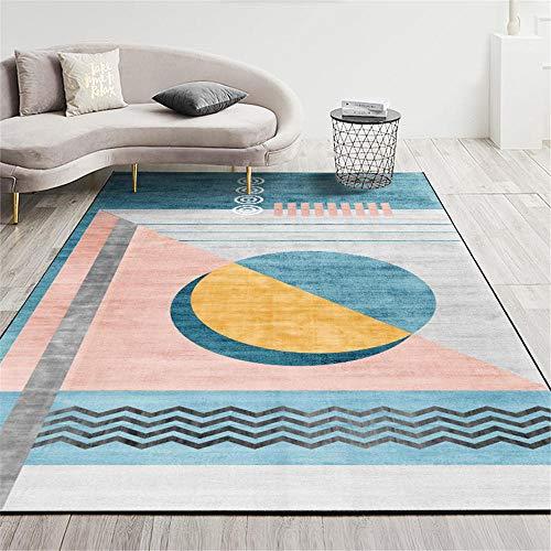 La alfombras Decoracion habitacion Adolescente Alfombra de Sala de Estar de diseño de Graffiti Minimalista Moderno Rosa Azul Amarillo alfombras pasilleras Modernas decoración del hogar 60*160cm