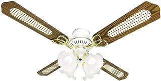 シーリングファン 冷暖房効果 シーリングファンライト リモコン式 扇風機 照明 4灯 LED対応 省エネ 風量調節 天井照明 天井ファン ブラウン