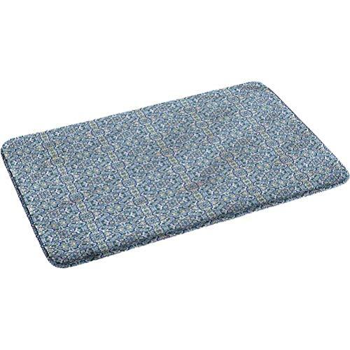 Vintage antideslizante de goma del respaldo de las alfombras del cuarto de baño Curvy Circular de la mano del azulejo de 17.5 'x 29.5'