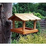 Mangeoire à oiseaux à suspendre. Mangeoire pour oiseaux sauvages en bois. Boules de graisse.