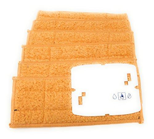 6 Stück Nass, Feucht oder Trocken Wischtücher (frei wählbar) Microfaser Pads, Tücher passend für Staubsauger Braava Jet 240, 241, 250 waschbar (Feucht, Damp)