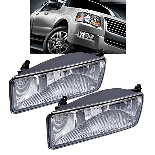 FuAuto Fog Lights Lamp For 2006-2010 Ford Explorer and 07-10 Sport Trac Bumper...