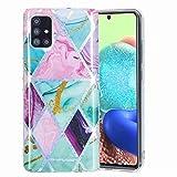 Funda para Samsung Galaxy S21 Plus, diseño de mármol, transparente, transparente, flexible, a prueba de golpes, suave silicona de TPU para Samsung Galaxy S21 Plus, color rojo y verde