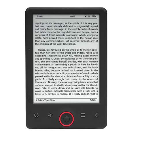 Denver Lector DE Libros ELECTRÓNICO EBOOK EBO-620-6'/15.24CM 1024 * 758 - Tinta ELECTRÓNICA - 4GB - MICROSD - Bat 1500MAH