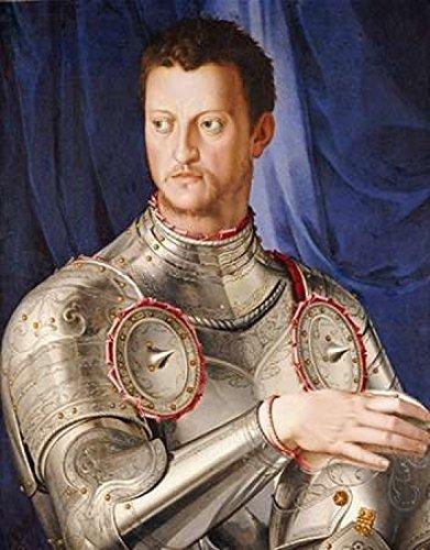 Posterazzi Portrait of Duke Cosimo I De Medici Poster Print by Agnolo Bronzino, (24 x 30)