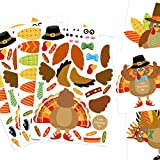 Make-A-Turkey Stickers Thanksgiving Party Favors Supplies Kids Turkey Crafts Games 20 Set