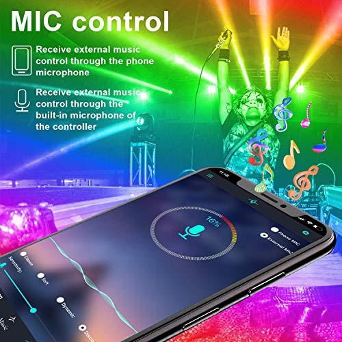 "65.6ft LED Strip Lights, Music Sync Color Changing RGB LED Lights""Smile Face""Controller & Remote Built-in Mic, Bluetooth APP Light Strip Rope Lights, LED Light Strip for Bedroom 6"