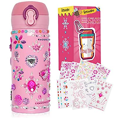 Amazon - Save 60%: Beewarm Gift for Girls Age 5 6 7 8 9 10 12, Decorate Your Water Bottle with T…