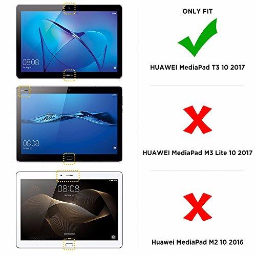 EasyAcc Hülle für Huawei Mediapad T3 10 Hülle, Ultra Schlank Schutzhülle Case mit Zwei Einstellbarem Standfunktion Für Huawei MediaPad T3 10 (9,6 Zoll), Schwarz - 2