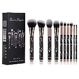 10 pcs Makeup Brushes Sets Marble Eyeshadow Professional Makeup Brush Set Concealer Eyeliner Eyebrow Foundation Face Brush Travel Cosmetic Brushes