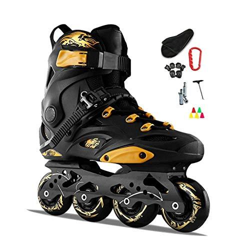 Fantastic Deal! Adult Illuminating Inline Skates with Light Up Wheels Fun Flashing Beginner Roller S...