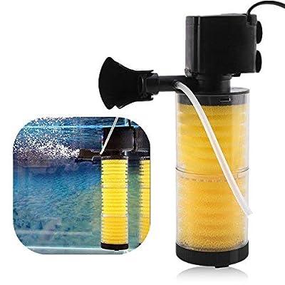 HEEPDD 3 en 1 Aquarium Filtre Pompe À Air Oxygène Submersible Réservoir Outils de Pompe À Eau pour Filtration Aération Circulation