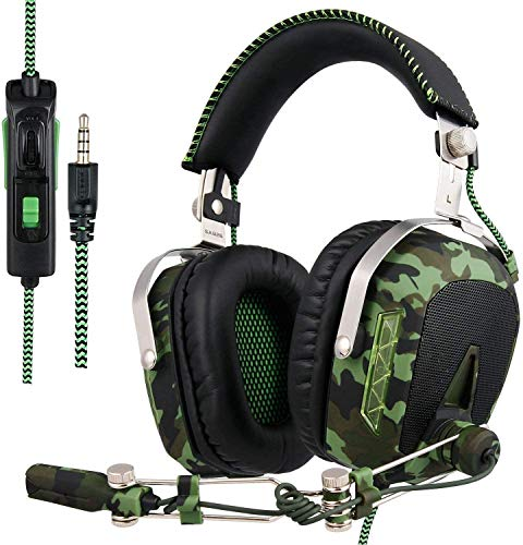 Sade R4 PC PS4 Xbox One Gaming Casque, 3.5mm Micro-Casque Gaming Arceau Gamer avec Micro (SA926T-Noir)
