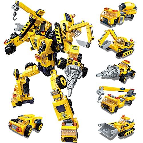 Paochocky Set de Bloques de Construcción 6 in 1 Stem Juguetes de Transformers Robots Regalo de Juguete de DIY Creativo Conjunto para Niños y Niñas (479 Piezas)