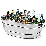 bar@drinkstuff Grande ghiacciaia da 23 litri, in acciaio zincato, secchiello per champagne...