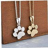 LAVALINK Cadena Animales Perros Collares Huellas de la Pata Colgante, Collar de joyería de los Colgantes de Collar Largo de Las Mujeres