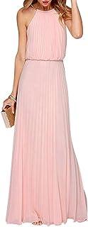 Yigoo Festliche Elegant Kleider Damen Festlich Hochzeit Spitzenkleider Vintage Abendkleid Cocktailkleid A-Linie Lang Langarm