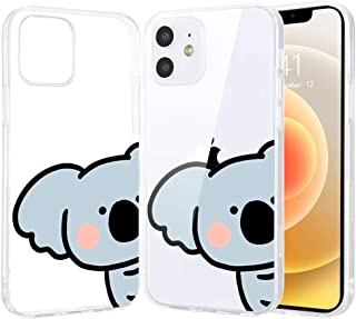 """LuGeKe Cute Koala Print Phone Case for iPhone 12 Pro Max 6.7"""",Cartoon Animal Pattern Case Cover,Soft Clear Cover Flexible ..."""