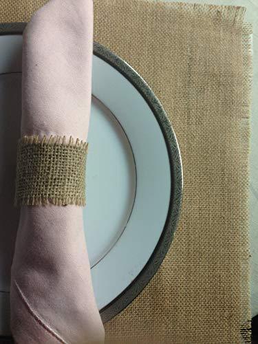 Burlap Napkin Rings thanks giving table decore christmas holiday burlap theme wedding table